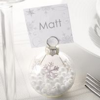 Shimmering Snowflake Bauble Place Card Holder (6)